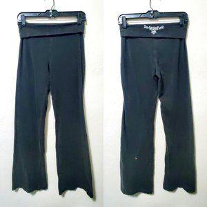 Women's Black Decal Yoga Athletic Pants